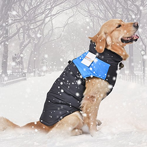 PAWZ Road Pet Clothes For Small Medium and Large Dogs Winter Warm Vest Jacket Easy On/Off 4 Colors 10 Sizes