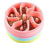 Hundenapf, Intsun Hundenapf für die langsame Fütterung, Interaktive Futterschüssel, Fressen verlangsamen, Hundenapf mit Anti-Schling-Funktion für kleine und mittlere Hund und Katz - 4