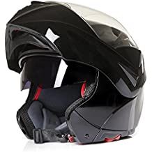 CMX Spacer - Casco integral, con visor, tallas S/M/L/XL, color negro