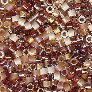 Miyuki Delica Seed Beads Mix 10/0 HONEY BUTTER 7.2 Grams by Miyuki