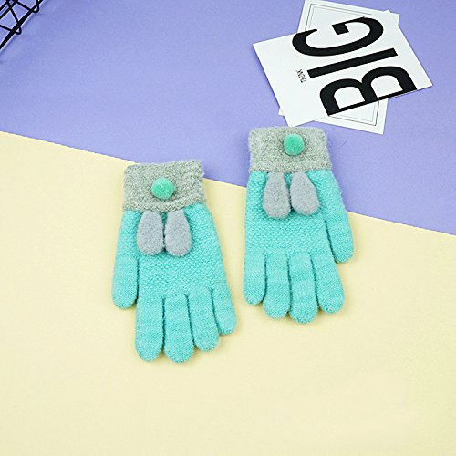 QH Winter Kinder 'Fingerhandschuhe Cartoon Gestrickte Warme Kinder' Handschuhe,C