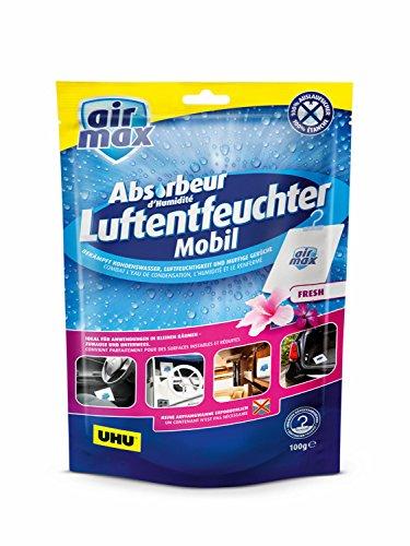 UHU 47165 airmax Luftentfeuchter, Mobil Fresh, Beutel mit 100 g