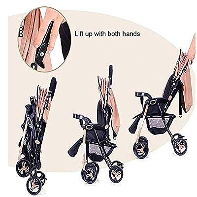 Cochecito doble de alto paisaje, cochecito de bebé plegable a prueba de golpes desmontable adecuado para bebés de 0 a 36 meses
