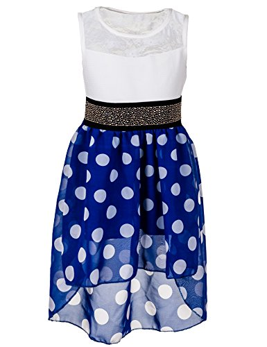 Mädchen Sommer Kleid 6 Farben (12 / 140 / 146, #376 Blau)