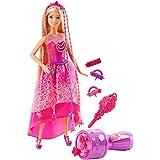 Mattel Barbie DKB62 - Modepuppen, 4 Königreiche, Zauberhaar Flechtspaß Prinzessin
