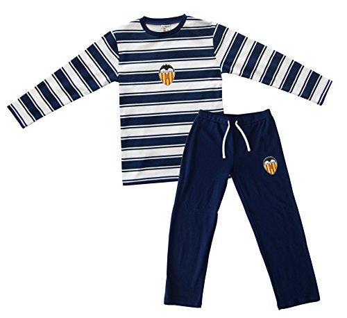 Valencia CF Pijvcf Pijama, Bebé-Niños, Multicolor (Blanco/Azul), 10