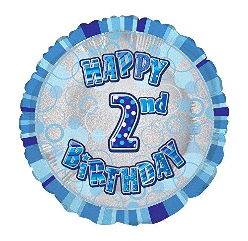 45,7cm Folie Glitz Happy Birthday Helium Ballon