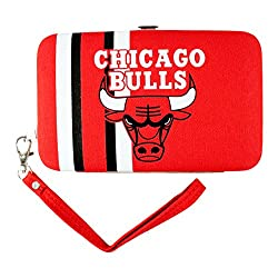 NBA Chicago Bulls Shell Wristlet, 3.5 x 0.5 x 6-Inch, Red