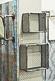 Haku-Möbel 13814 2er-Set Wandregal, Metall, anthrazit, 31/39 x 19 x 31/39