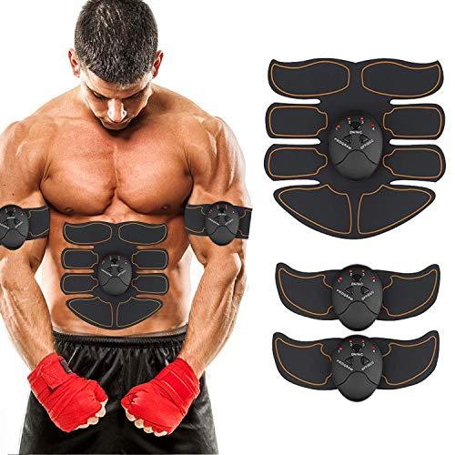 ZHENROG Elettrostimolatore Muscolare, EMS Suscolo Addominale, Addominali Attrezzi ABS, Addome/Braccio/Gambe/Waist/Glutei Massaggi-Attrezzi, 6 modalità e 10 Livelli di Intensità-Uomo/Donna