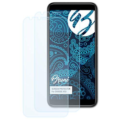 Bruni Schutzfolie für DOOGEE X53 Folie, glasklare Displayschutzfolie (2X)