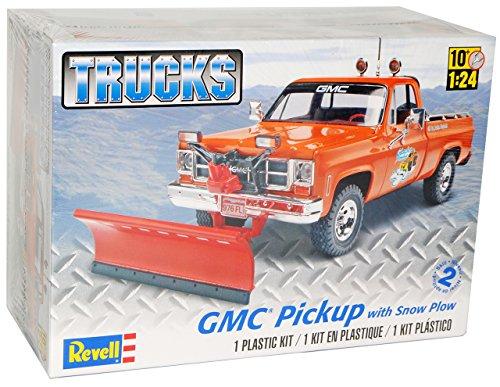 GMC Pickup Winterdienst mit Schneepflug Truck Orange Bausatz Kit 1/25 1/24 Revell Modell Auto (Gmc Spielzeug Auto)