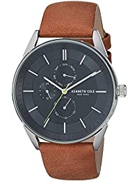 66804bde037 Kenneth Cole Mens Analogue Quartz Watch with Leather Strap KC50191002