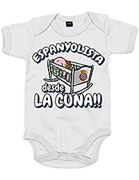 Body bebé Espanyolista Perico desde la cuna RCD Espanyol fútbol