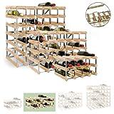 Cantinetta / scaffale per vino / sistema TREND per 18 bottiglie, legno chiaro rovere, ampiliabile - a 22,8 x l 61,2 x p 30 cm