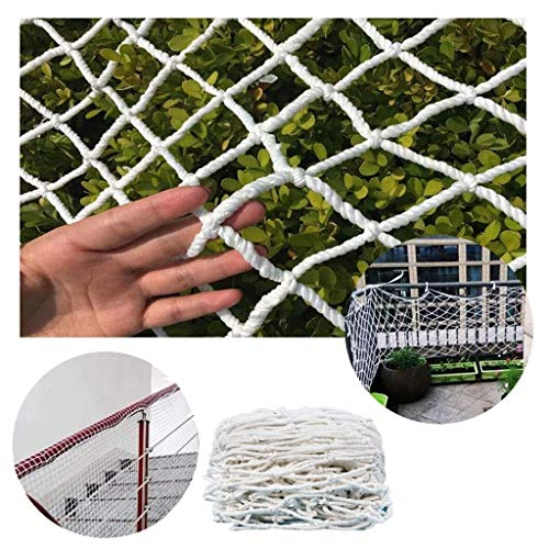 Outdoor Weiß Schutznetz Kids Stair Safe Netting Schiene Balkon Geländer Decor Net Zaun Klettern Woven Rope Truck Cargo Trailer Netting Spielplatz Klettern Hängematte Swing Rope Net -
