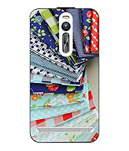 Case Cover Printed Multicolor Hard Back Cover For Asus Zenfone 2