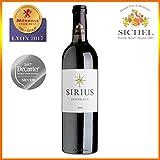 Sirius 2015 - Bordeaux Rouge - Vin Rouge - 75cL - Vin idéal pour Noël