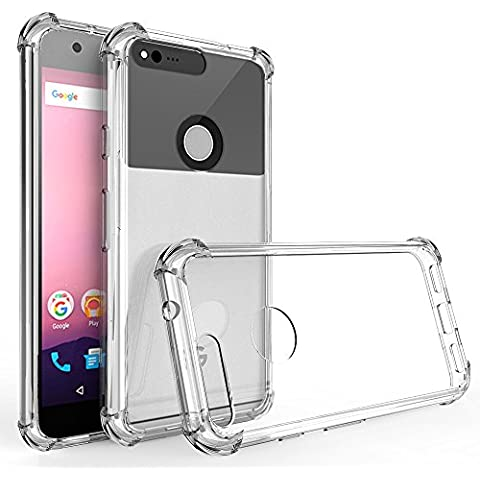 IVSO Google Pixel XL Custodia, Protettiva Case Cover Custodia in silicone per Google Pixel XL (Trasparente) - Xl Silicone