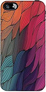 Snoogg vector abstract hand drawn waves texture Hard Back Case Cover Shield ForForApple Iphone 5C / Iphone 5c