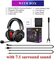 EKSA E900 Pro, Virtual 7.1 Surround Sound Gaming Headset Led USB/3.5mm Wired Headphone With Mic Volume Control