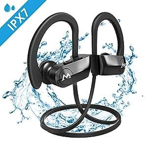 8d1314f31f966d Mpow D7 [Upgraded] Bluetooth Headphones, IPX7 Waterproof Richer Bass Stereo  Wireless Sports Earbuds