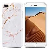 Mosoris Coque iPhone 8 Plus, iPhone 7 Plus Silicone Csae Marbre Motif TPU Souple...
