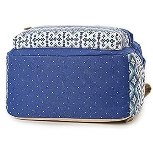51cQ8108 vL. SS300  - Moollyfox Niña Bohemia punto de impresión Mochila Linda Peso ligero Ordenador portátil bolso de escuela Bolsa de viaje…