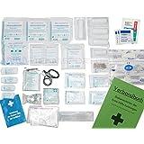 Komplett-Set Erste-Hilfe DIN 13157 EN 13 157 PLUS 1 für Betriebe mit Notfallbeatmungshilfe & Verbandbuch Stand 2016 incl.Alkoholtupfer + Pinzette