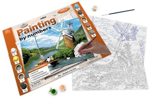 Royal & Langnickel PAL7 - Malen nach Zahlen Din A3, Windmühle am Fluss