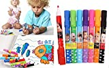 Kids Goods Best Deals - KNOW Set of 8 Assorted Colors Easy-to-Wipe Dry-Erase Drawing Coloring Whiteboard Color Marker Pens