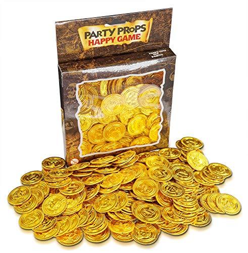 Brynnberg - 150 Goldmünzen | Gold-Taler |Schatzsuche | Piraten Gold - Münzen | Piraten Schatz | Piraten Party | Kindergeburtstag | Dekoration | Spielgeld | Goldschatz | Mitgebsel