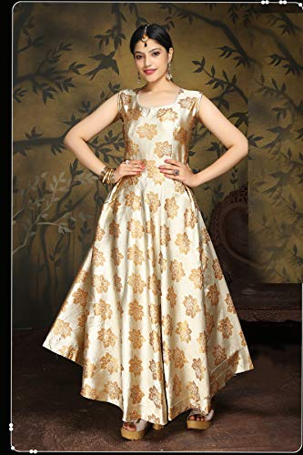 oneness collection Ethnic gown for girls and women (X-Large, Cream)