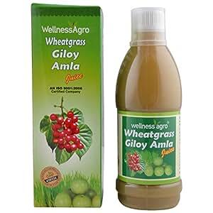 Wellness Agro Wheatgrass Giloy Amla Juice 500 ml