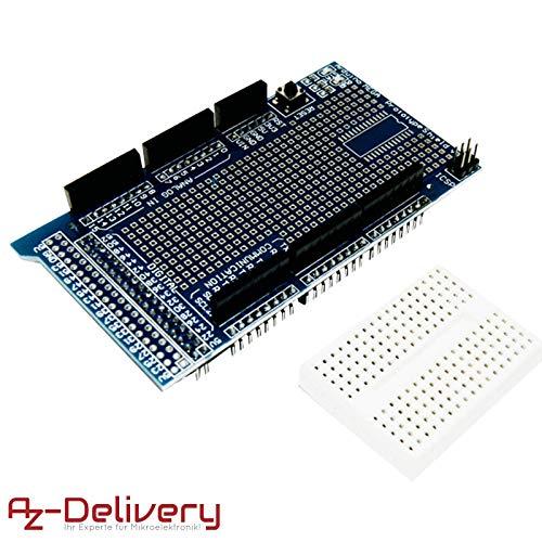 AZDelivery ⭐⭐⭐⭐⭐ Mega 2560 R3 Board con ATmega2560, 100% Arduino Compatibile e con gratis eBook (tedesco). Prototype Shield
