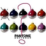 SELETTI PANTONE Set 4 PALLINE colori misti Natale Albero Decorazione Palla pallina