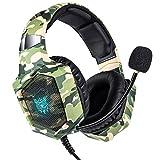Gaming-Kopfhörer, Stereo-Surround-Gaming-Kopfhörer mit Noise Cancelling-Mikrofon, LED-Leuchten und Speicher-Soft-Memory-Kopfhörer, Vergleichen Sie mit Xbox One, PS4 und PC-Mac-Computerspielen