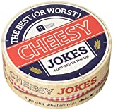 Talking Tables Game-Cheesy-Jokes-V3 Fromage Ringard Blagues 64 Cartes Papier, Multicolore, 0,11 x 0,11 x 0,04 cm