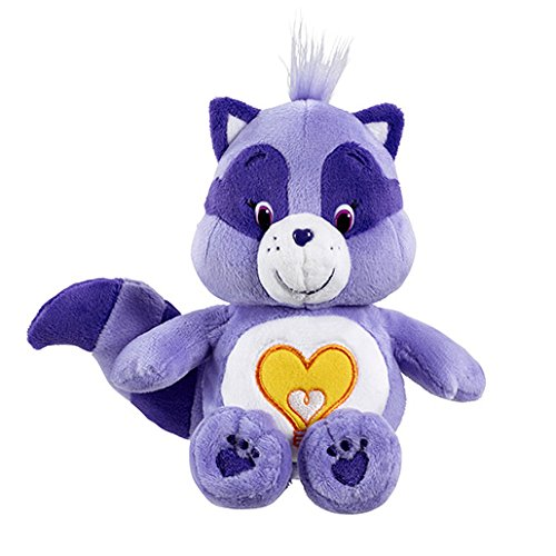 Image of Vivid Imaginations Care Bears Cousins Bright Heart Raccoon Bean Bag Plush Toy (Multi-Colour)