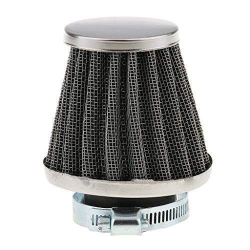 Sharplace Filtro de Aire Universal Parrilla de Aluminio Recambio Interior Combustible Negro 35mm