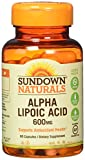 Sundown Naturals Super Alpha Lipoic Acid 600 mg, 60 Capsules