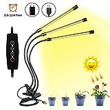 Grow LED Pflanzenlampe Vollspektrum 30W mit Zeitschaltuhr, perfekte...