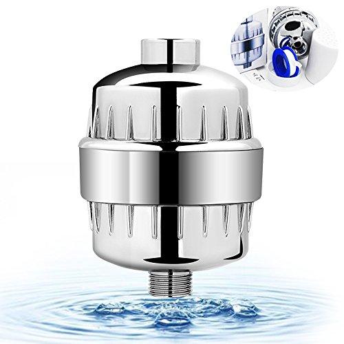 r, Goodsmiley 12 Stufen Wasserfilter weicher mit Teflonband Arbeiten mit Duschkopf fürc Entfernung Chlor Schwermetalle Fluorid Schwefelgeruch und schädlichen Verunreinigungen (Verzinkt Dusche)