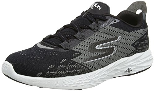 Skechers Performance Herren Go Run 5 Outdoor Fitnessschuhe Schwarz (nero Bianco)