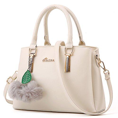 CengBao Ms. pacchetti coreano in autunno e inverno nuova donna pacchetto è semplice ed elegante borsa tracolla di tendenza un cross-killer pacchetto, m bianco M bianco