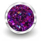 Nailfun 5 ml UV-Color-Farbgel Crush Crisp glitter lila, 1er Pack (1 x 5 ml)