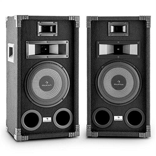 """auna PA-800 Fullrange PA-Lautsprecher Paar 8"""" Tieftöner 800W max."""