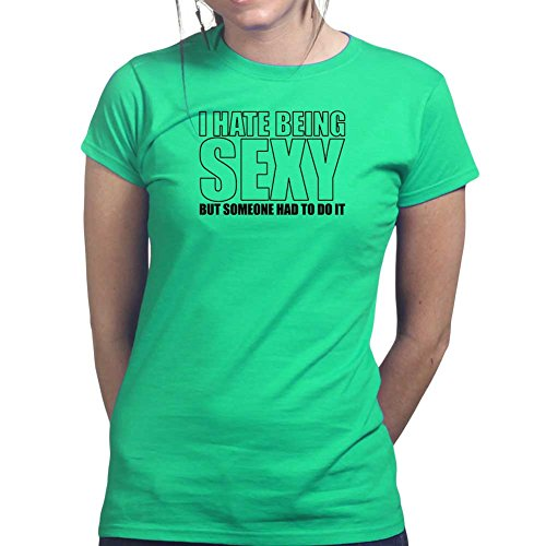 Womens Sexy Funny Joke Sarcastic Gift Ladies T Shirt (Tee, Top) Irish Green
