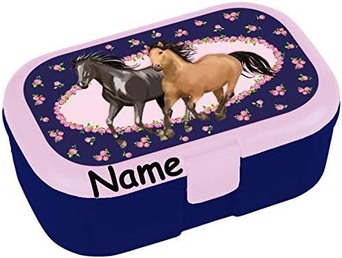 Lutz Mauder Boîte Boîte Boîte à Sandwich pour  s avec et sans Impression du nom Idéal pour Les Filles Boîte à Sandwich ou Les Chevaux 04fe28