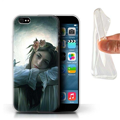 Officiel Elena Dudina Coque / Etui Gel TPU pour Apple iPhone 6S+/Plus / Par le Vent Design / Un avec la Nature Collection Rêveur
